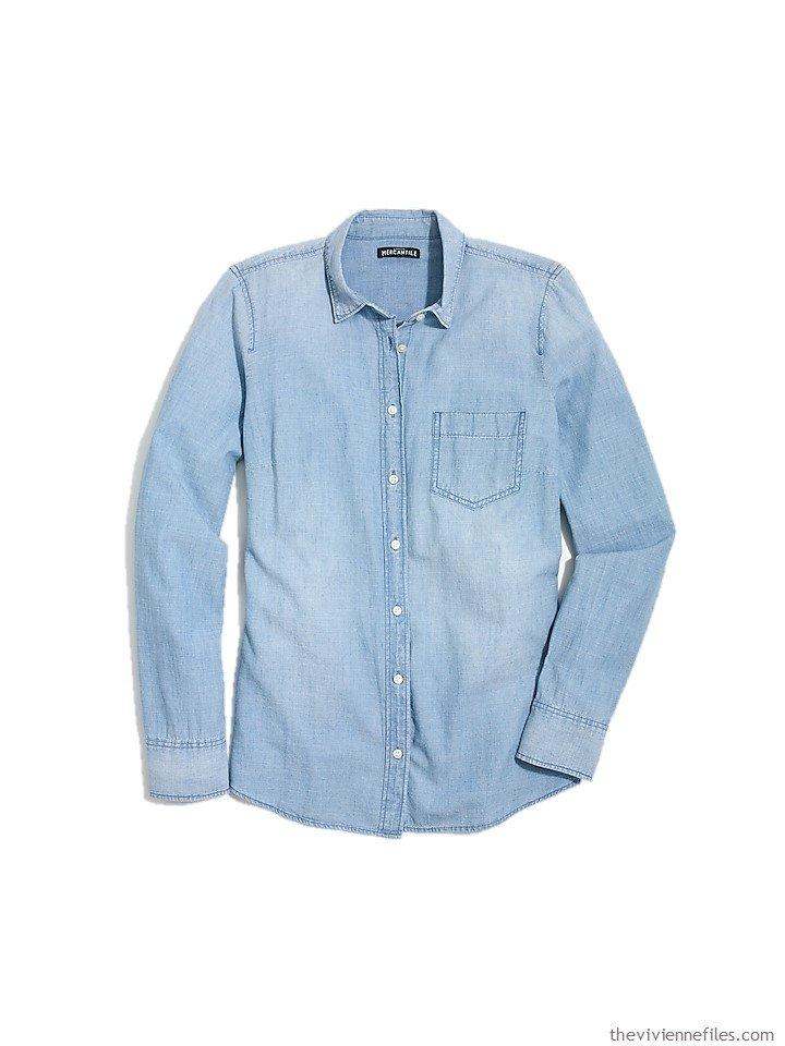 1. a chambray shirt