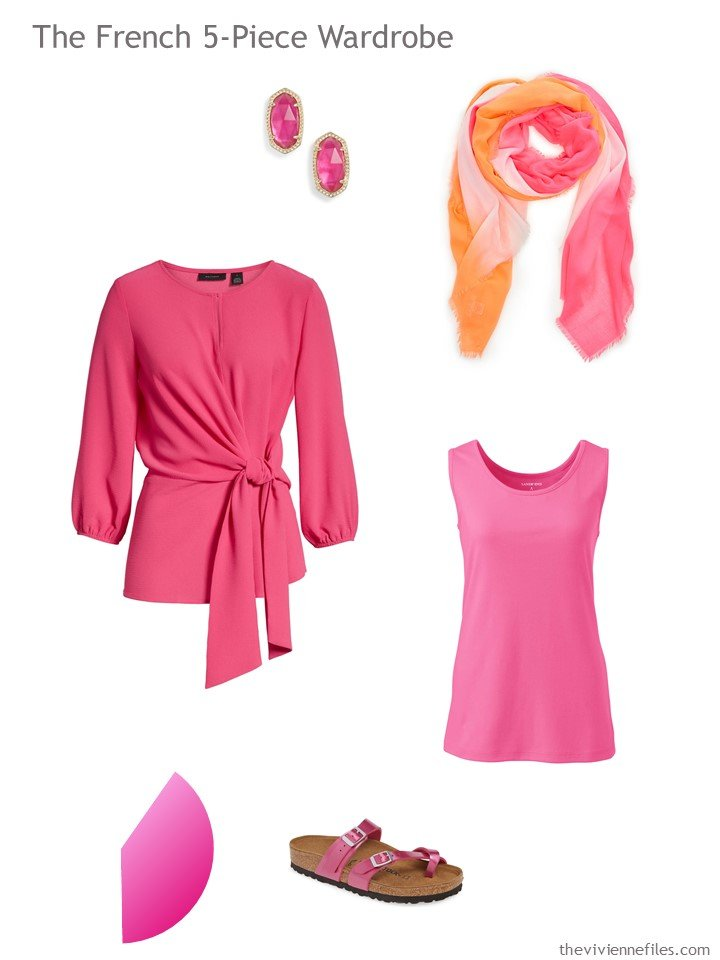 10. French 5-Piece Wardrobe in hot pink