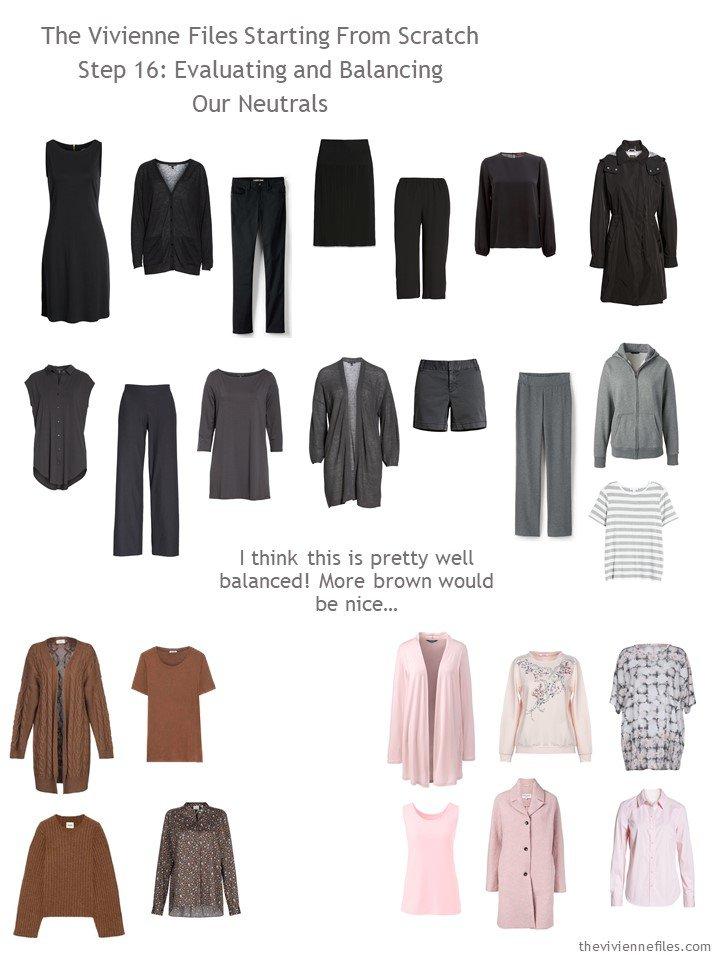 11. evaluating a capsule wardrobe by color