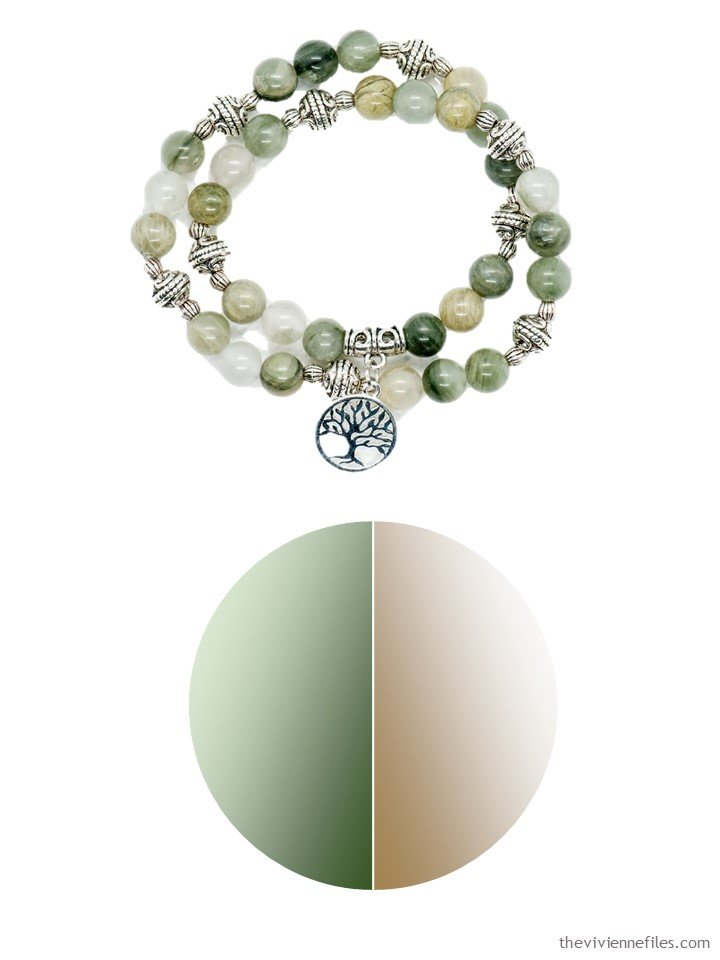 2. May 2019 bracelet in beige and green, with color palette