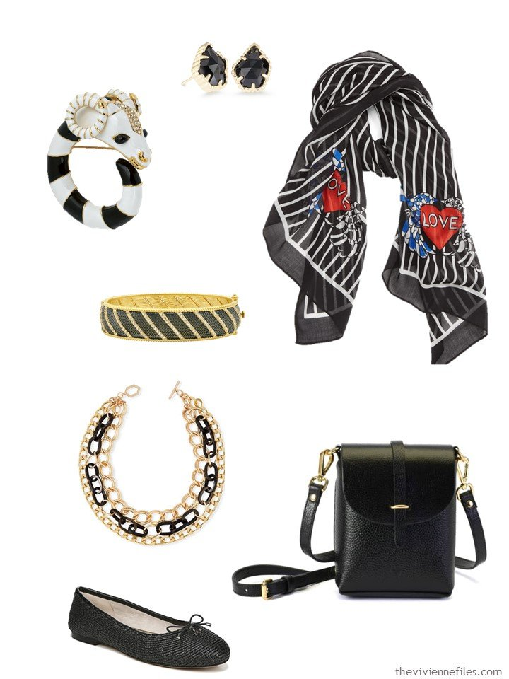 2. black and white accessory family