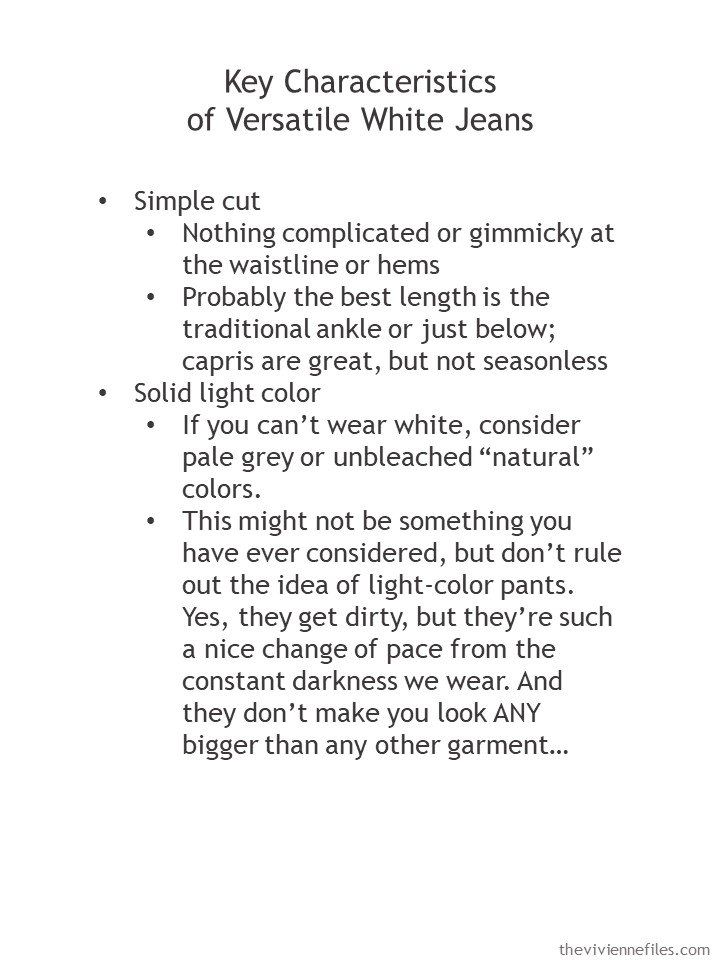 2. guidelines for buying white jeans