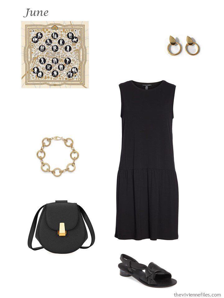22. black summer dress with accessories