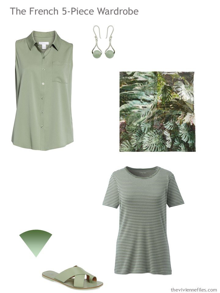 4. French 5-Piece Wardrobe in green
