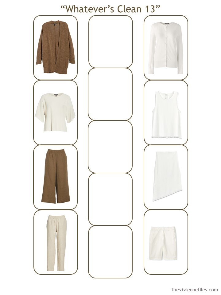 5. Whatever's Clean 13 wardrobe with the neutrals in place