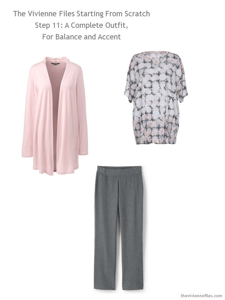 5. adding a pink and grey outfit to a travel capsule wardrobe
