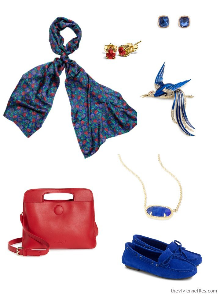 5. blue and red accessory family