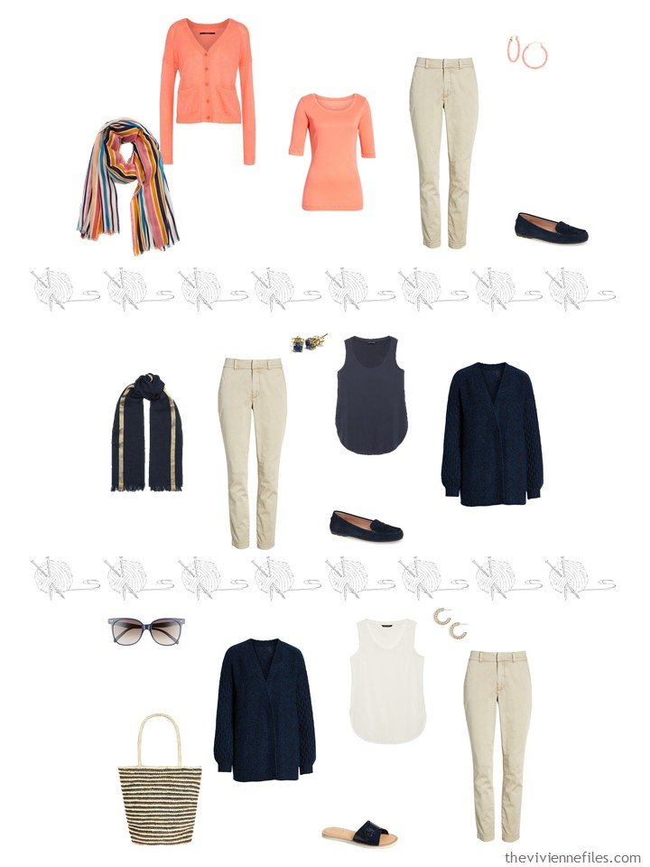 6. 3 ways to wear beige pants from a travel capsule wardrobe