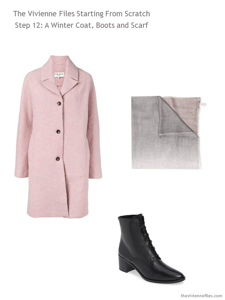 6. adding coat, scarf and boots to a capsule wardrobe