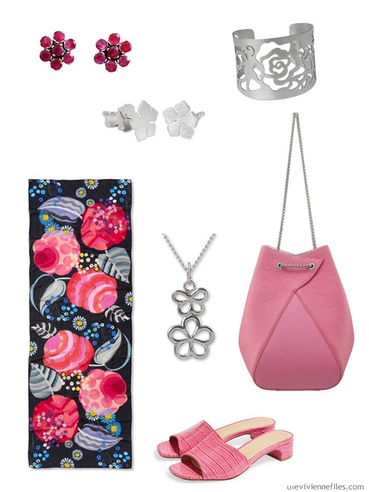 6. silver and pink accessory family