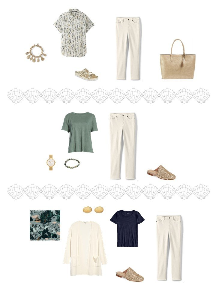 7. 3 ways to wear beige pants from a travel capsule wardrobe