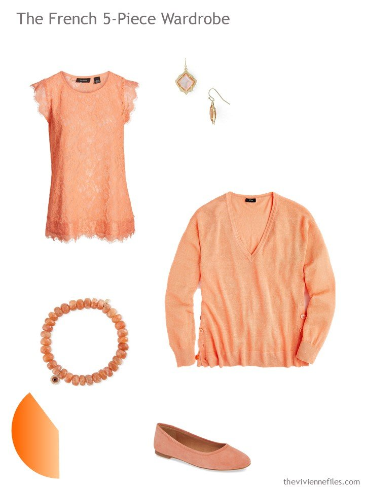 7. French 5-Piece Wardrobe in orange