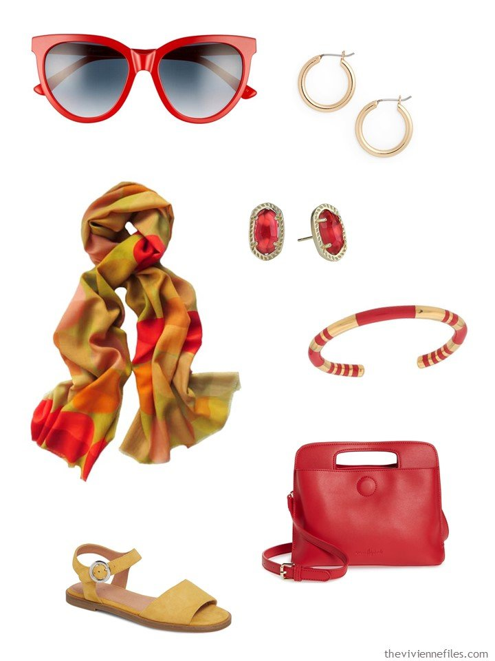 7. red and mustard accessory family