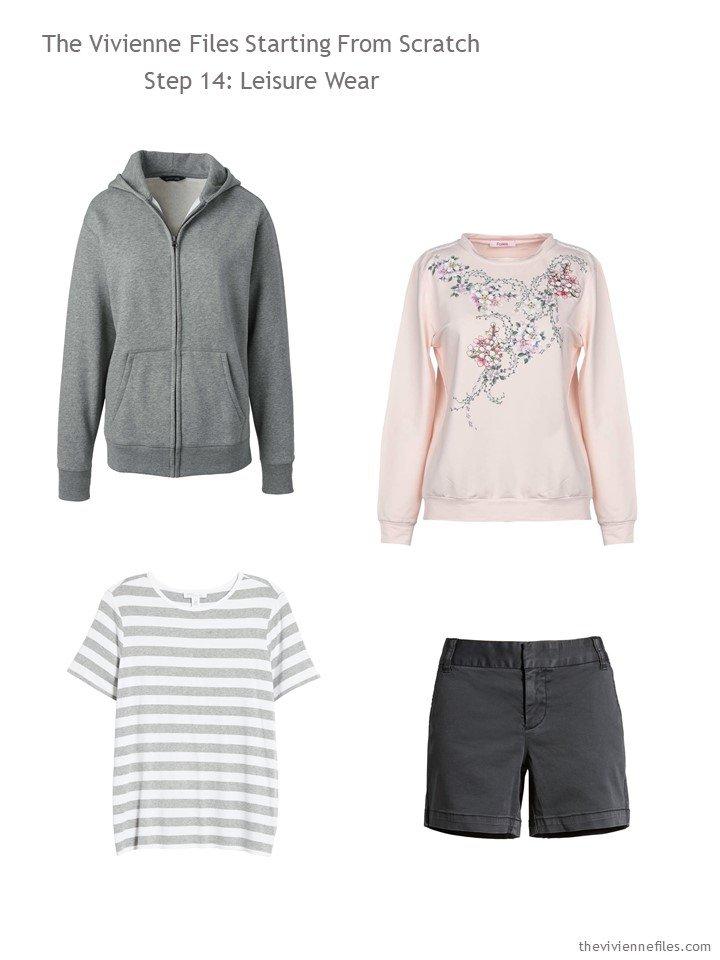 8. adding leisure wear to a capsule wardrobe