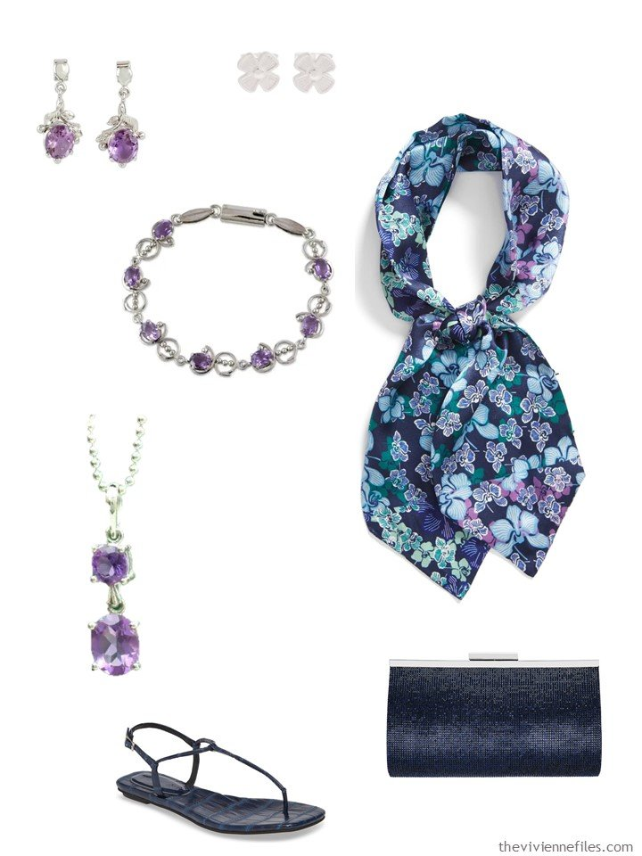 8. amethyst and navy accessory family