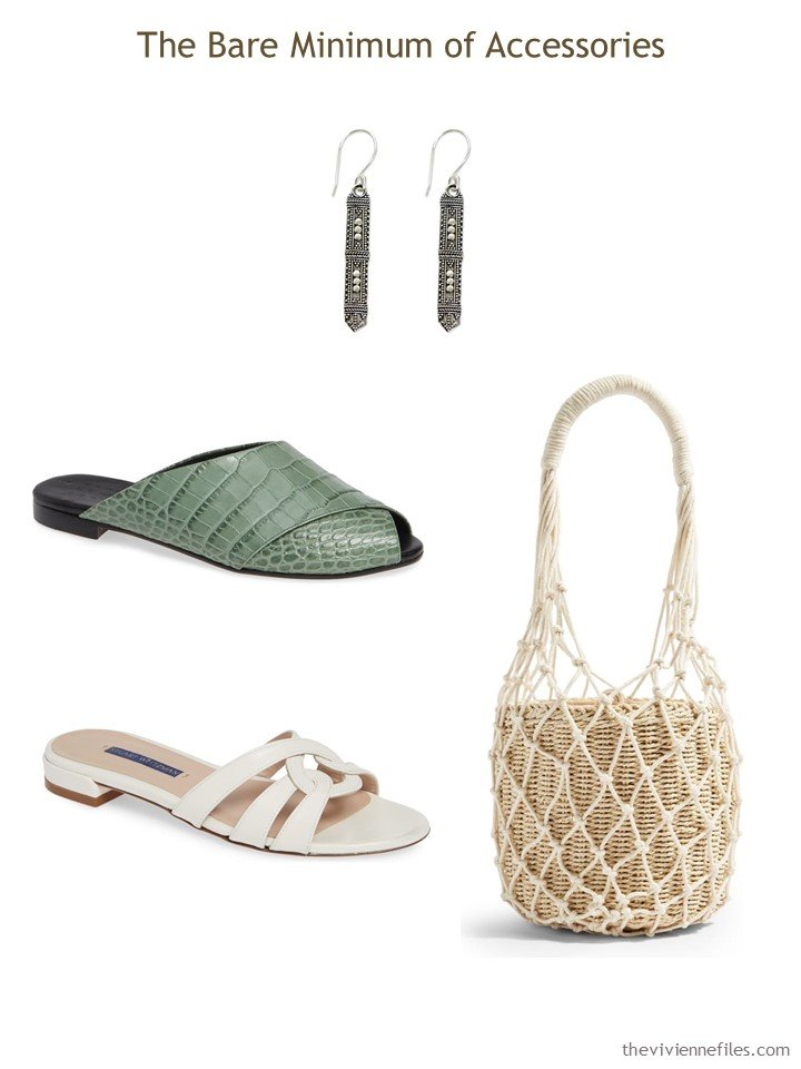 8. sandals, earrings and a bag for a Whatever's Clean 13 wardrobe