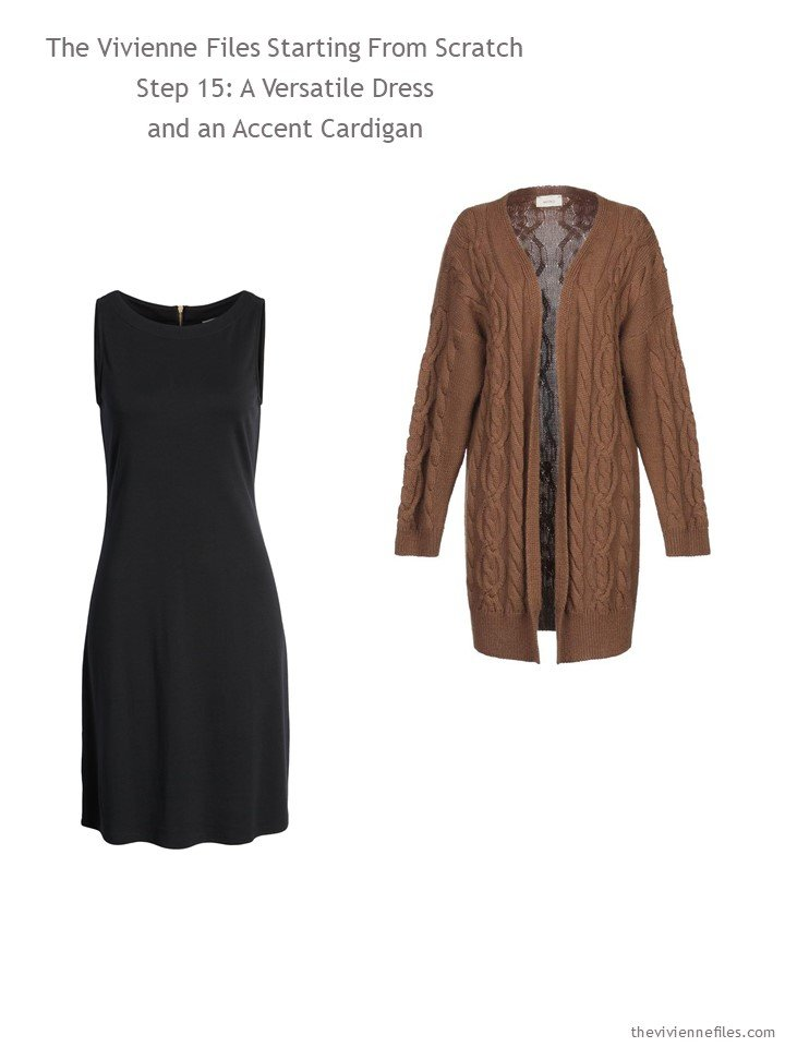 9. adding a dress and cardigan to a capsule wardrobe