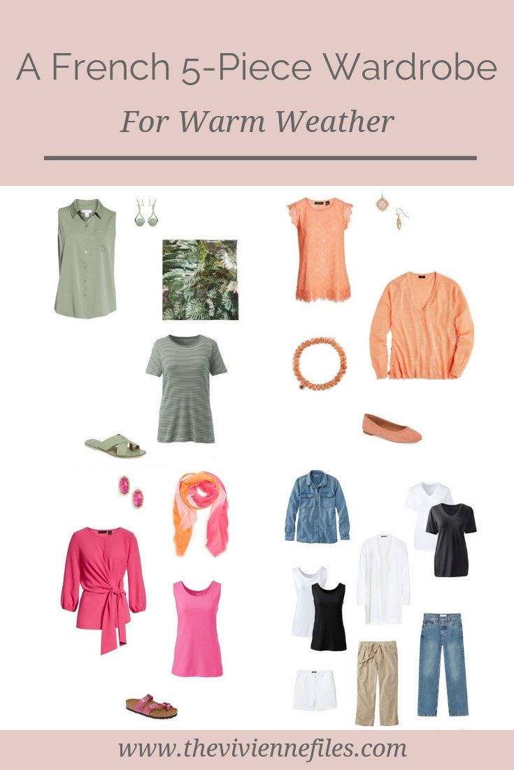 A FRENCH 5-PIECE CAPSULE WARDROBE INSPIRED BY FLOWERS
