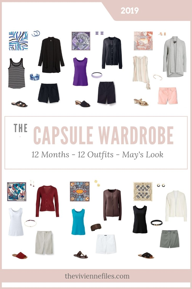 CREATE A CAPSULE WARDROBE - MAY 2019 – 12 MONTHS, 12 OUTFITS – BASED ON 6 HERMES SCARVES