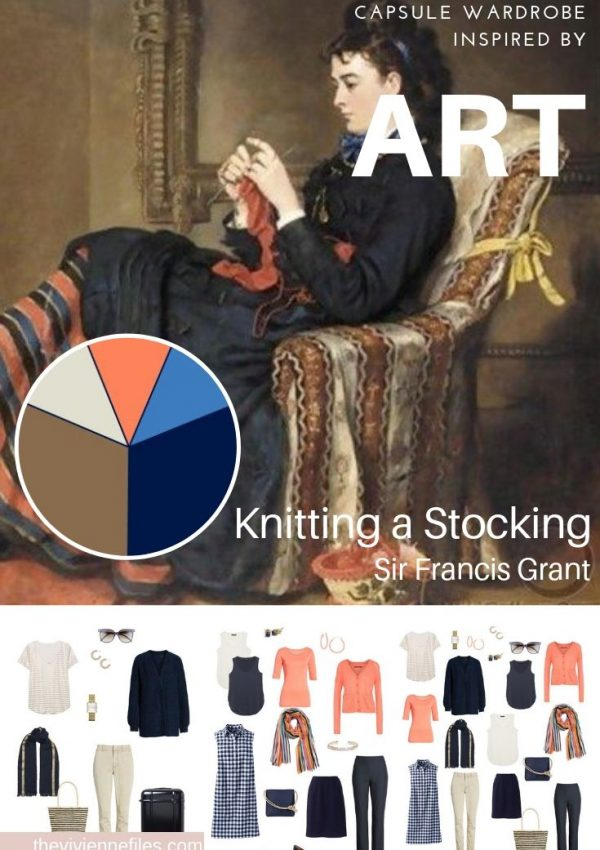 CREATE A TRAVEL CAPSULE WARDROBE INSPIRED BY ART - KNITTING A STOCKING BY SIR FRANCIS GRANT