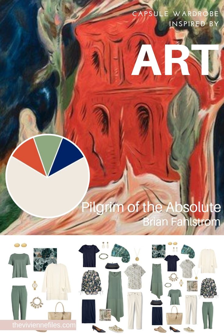 CREATE A TRAVEL CAPSULE WARDROBE INSPIRED BY ART - SPRING TRAVEL: PILGRIM OF THE ABSOLUTE BY BRIAN FAHLSTROM
