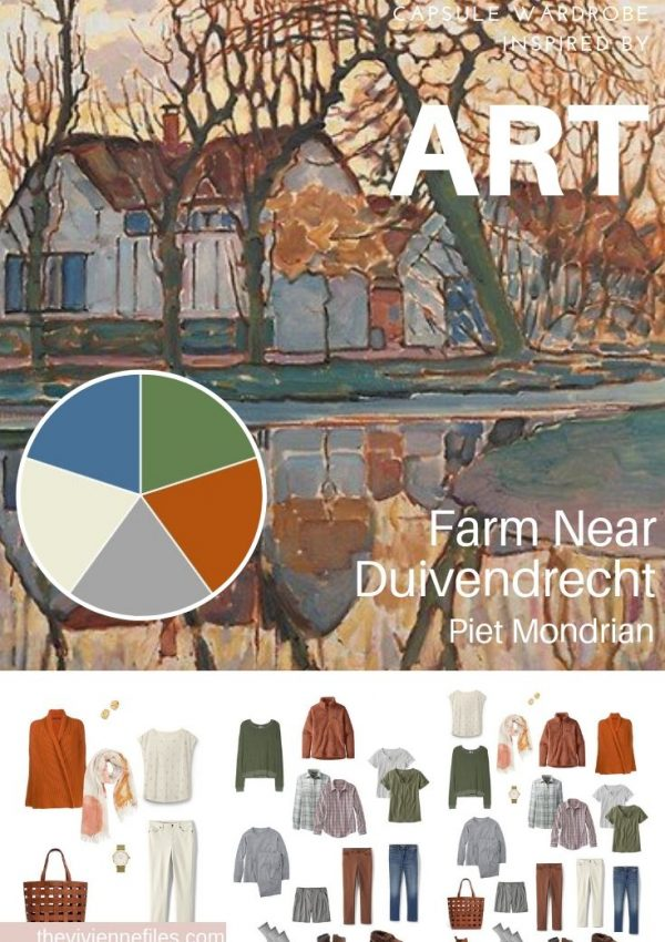 CREATE A TRAVEL CAPSULE WARDROBE INSPIRED BY ART - FARM NEAR DUIVENDRECHT BY PIET MONDRIAN