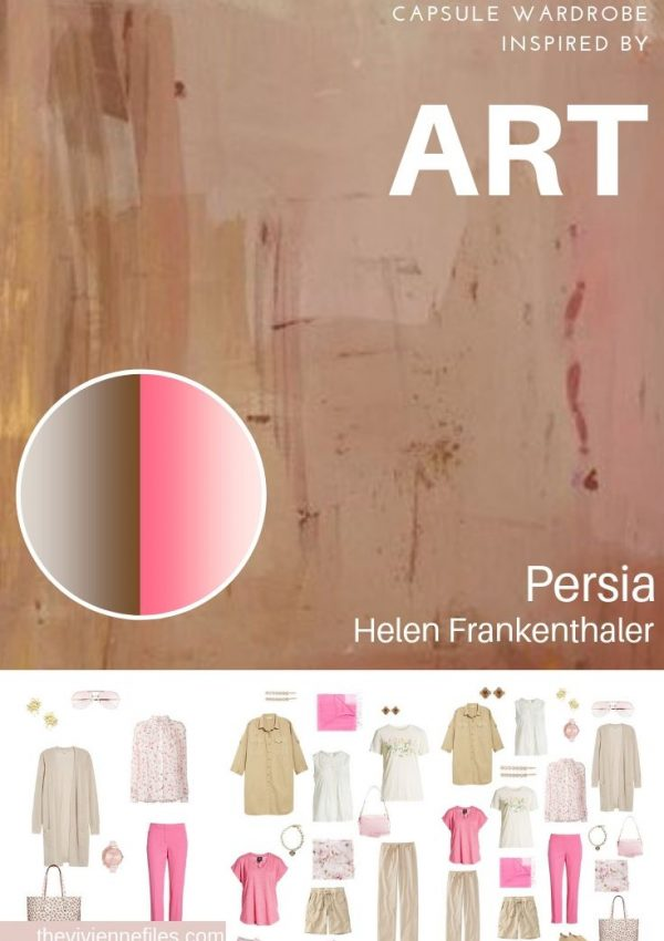 CREATE A TRAVEL CAPSULE WARDROBE INSPIRED BY ART: PERSIA BY HELEN FRANKENTHALER