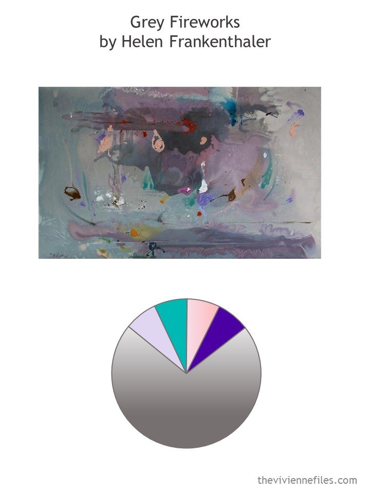 1. Grey Fireworks by Frankenthaler with color palette
