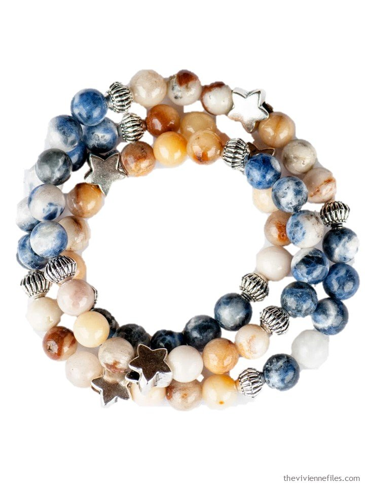 1. June 2019 sodalite and topaz jade bracelet