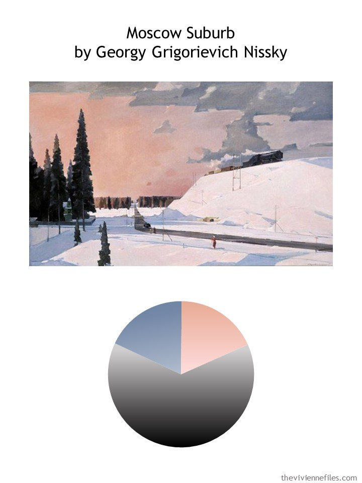 1. Moscow Suburb by Nyssky with color palette