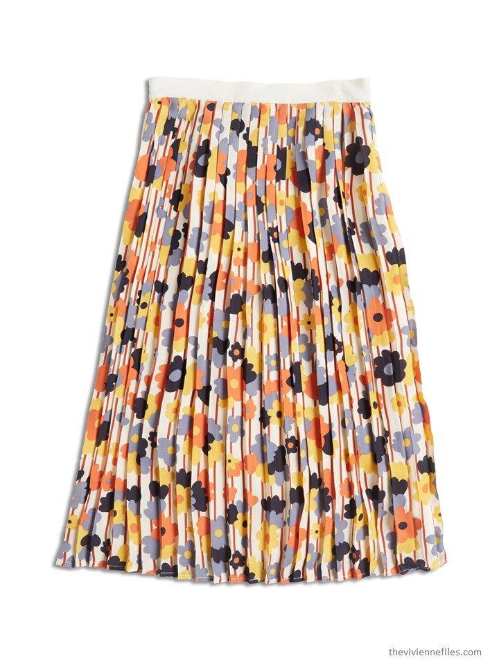 1. a floral skirt