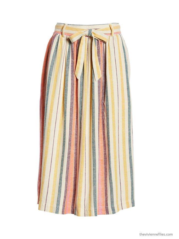 1. striped skirt