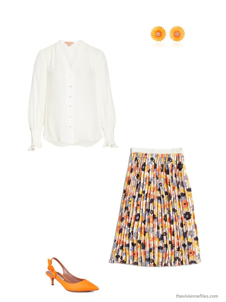 12. dressing up a floral skirt