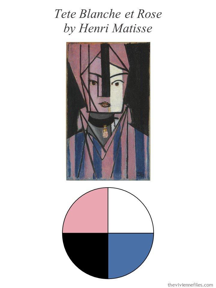 2. Tete Blanche et Rose with color palette
