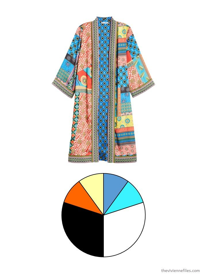 2. bright jacket with color palette