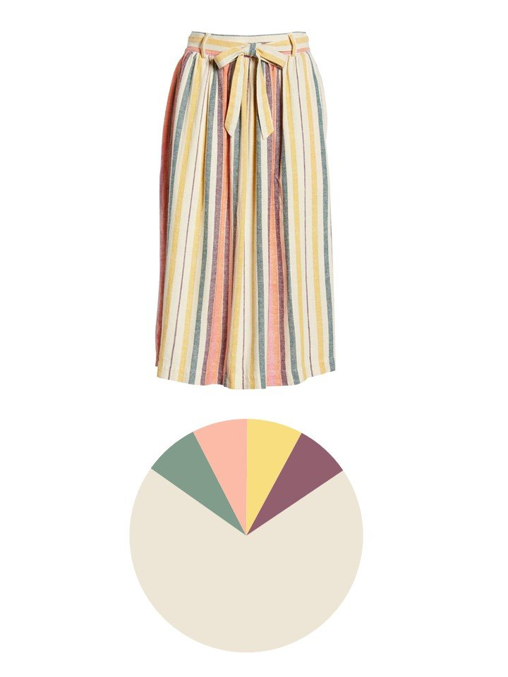 2. striped skirt and color palette