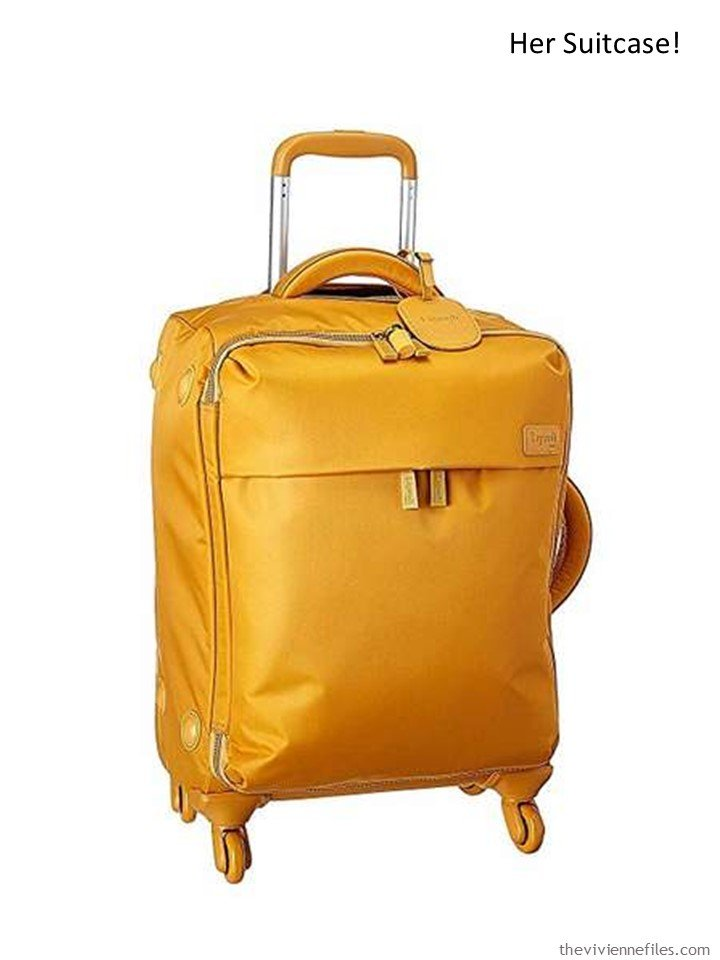 4. bold yellow suitcase