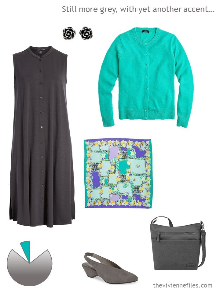 4. green and grey dress outfit