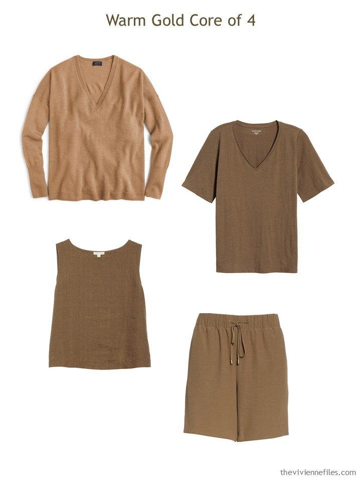 4. summer wardrobe Core of 4 in warm brown