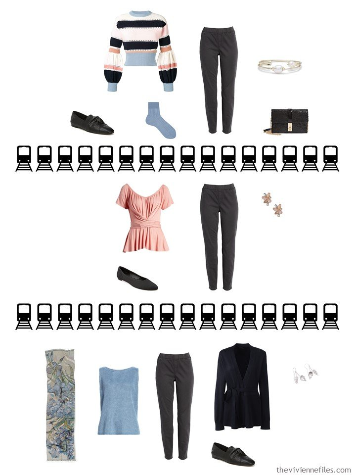 5. 3 ways to wear black denim pants from a travel capsule wardrobe