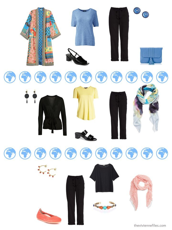 7. 3 ways to wear black pants from a travel capsule wardrobe