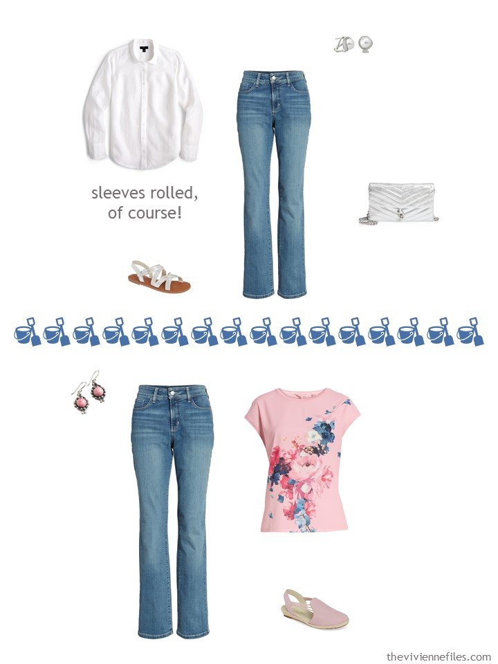 9. 2 ways to wear jeans from a travel capsule wardrobe