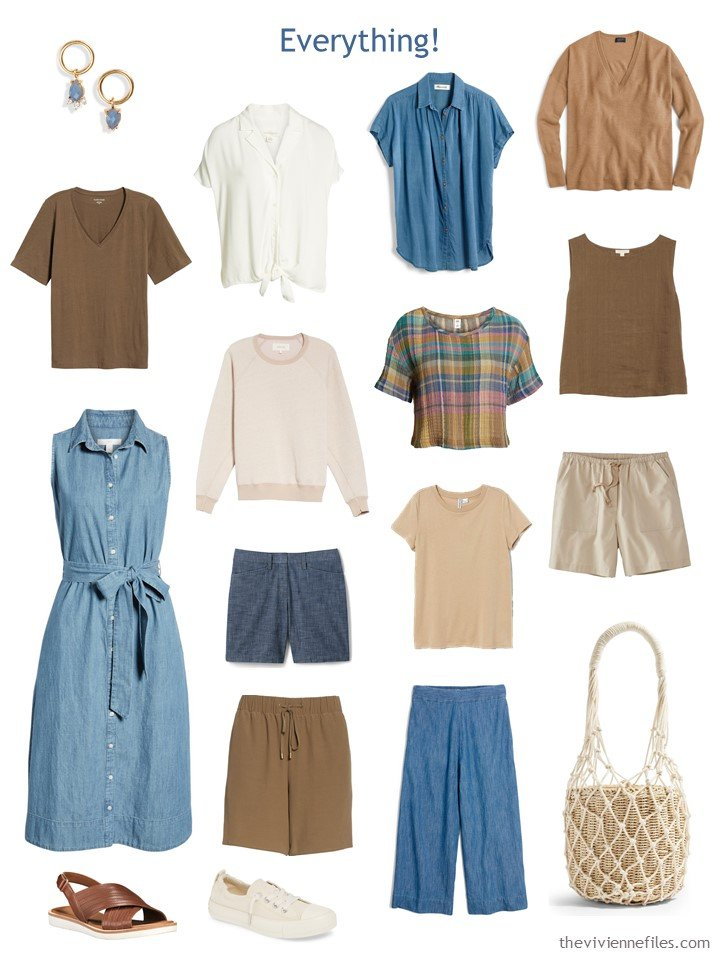 9. a Whatever's Clean Wardrobe in chambray, ivory and warm brown