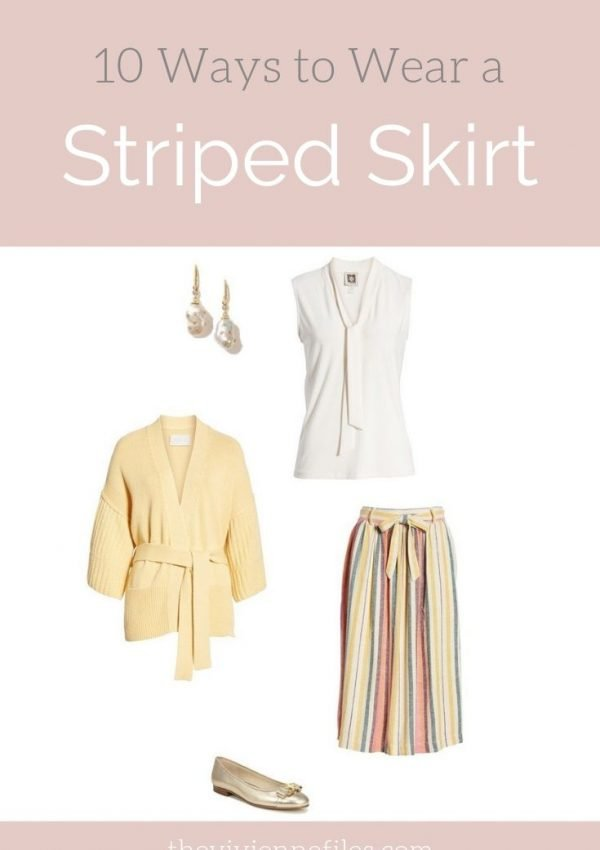 10 WAYS TO WEAR A STRIPED SKIRT