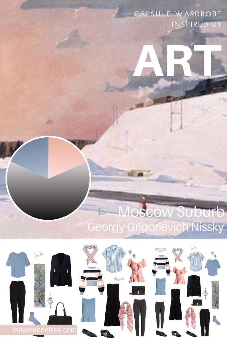 CREATE A CAPSULE WARDROBE BY STARTING WITH ART: MOSCOW SUBURB BY GEORGY GRIGORIEVICH NISSKY