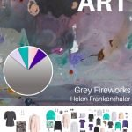 CREATE A TRAVEL CAPSULE WARDROBE INSPIRED BY ART: SECOND SEASON WITH GREY FIREWORKS BY HELEN FRANKENTHALER