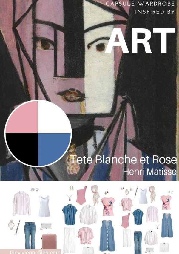 Create a Travel Capsule Wardrobe Inspired by Art: Tete Blanche et Rose by Henri Matisse