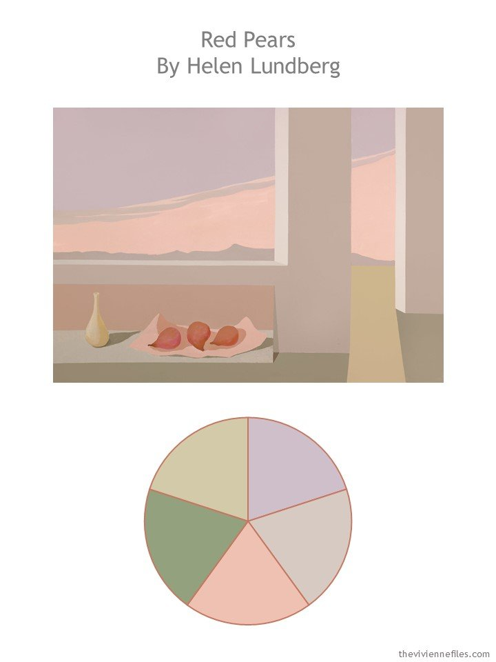 1. Red Pears by Helen Lundberg with color palette