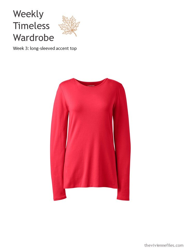 1. WTW accent long-sleeved top