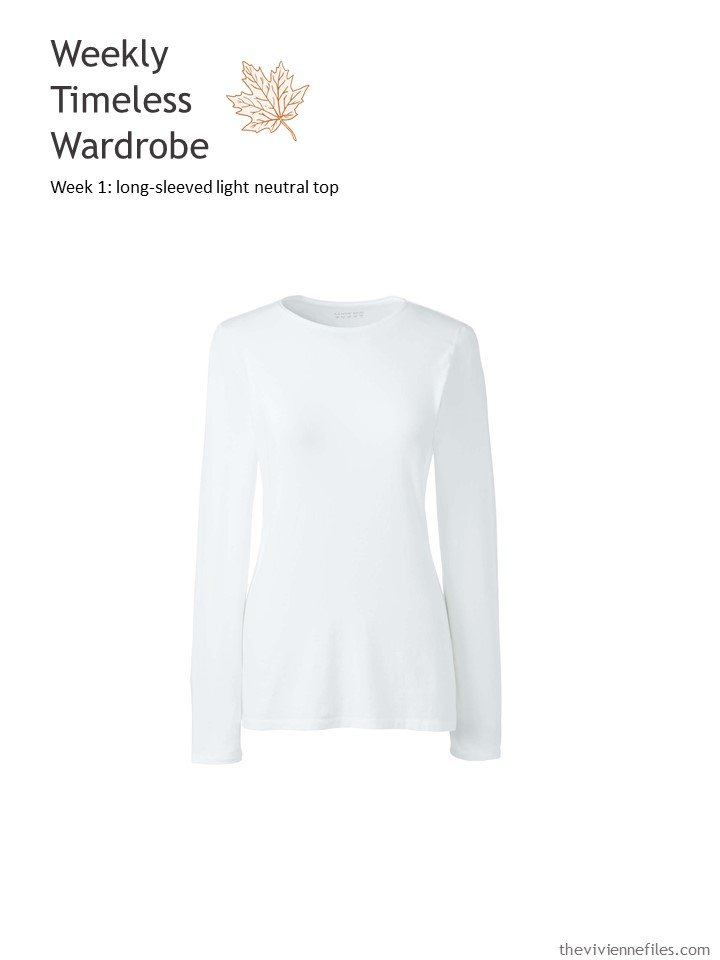 1. WTW week 1 - long-sleeved light neutral top